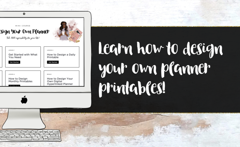 Payment image design your own planner printables