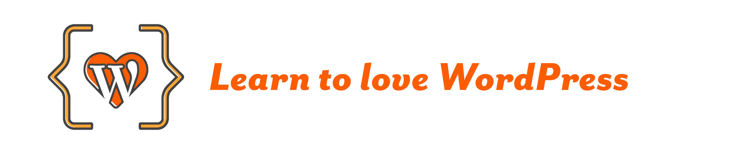 Cover learn to love wordpress logo