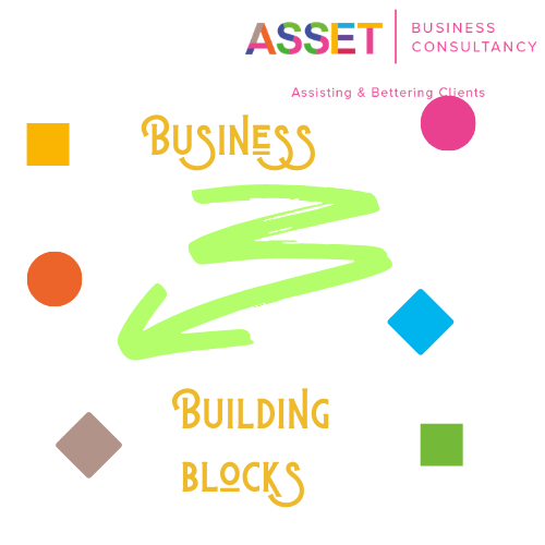 Cover business building blocks logo