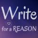 Headshot base write for a reason website logo
